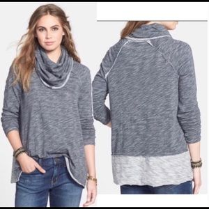 Free People | Beach Cowl Neck Lightweight Sweater